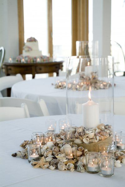 Best ideas about seashell centerpieces on pinterest