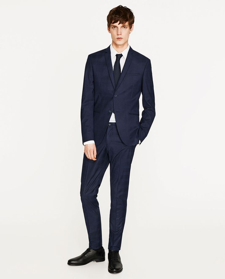 Image 1 of BLUE CHECK SUIT from Zara