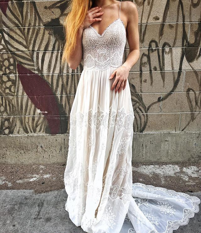 """In love with our new @florabridal """"Eva"""" gown!"""