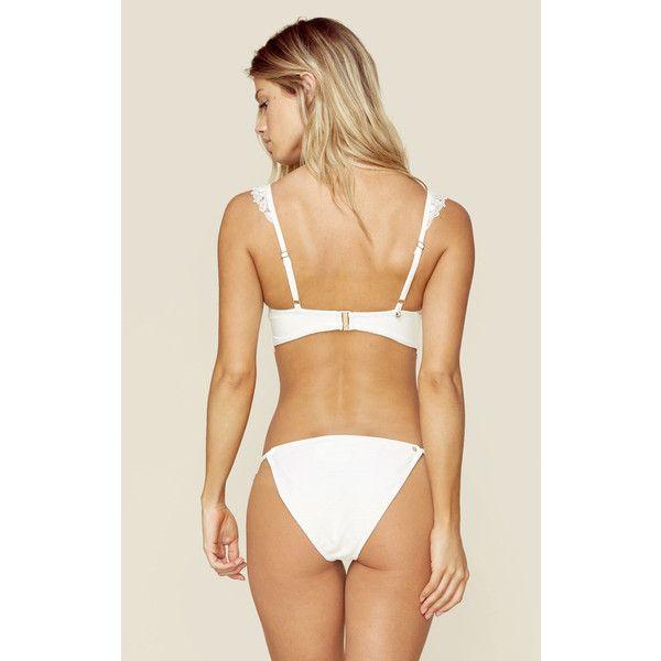 For Love and Lemons Barcelona Bikini Bottom ($35) ❤ liked on Polyvore featuring swimwear, bikinis, bikini bottoms, bikini, bikini bottom, swimsuit, white, white bikini bottoms, white bikini swimsuits and white bathing suit