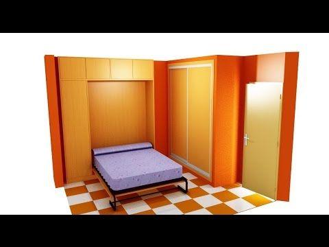 50 como hacer una armario con cama abatible youtube bricolage pinterest murphy bed - Como construir una cama ...