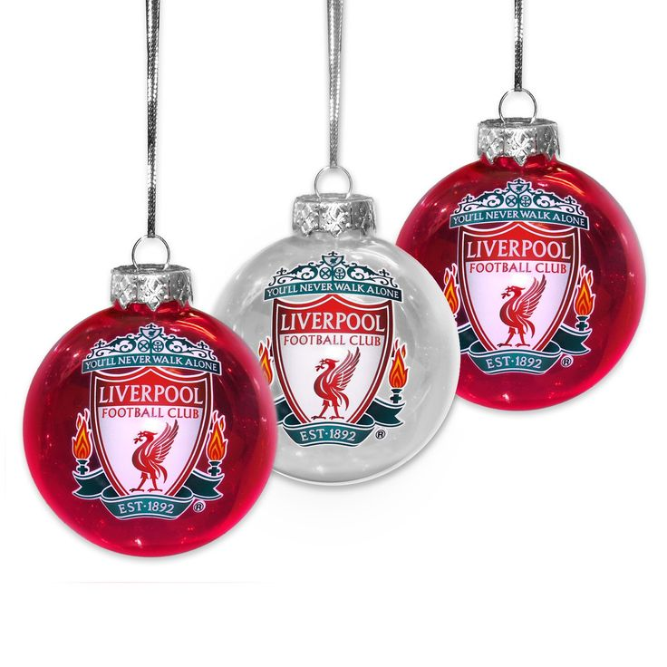 Liverpool FC Pack of 3 Liverbird Ornaments Baubles