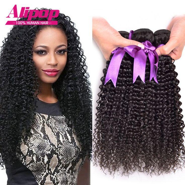 8A Malaisie Crépus Bouclés Vierge de Cheveux 4 Bundles Malaisienne Bouclés Cheveux Malaisiens Crépus Bouclés Cheveux Bouclés Armure de Cheveux Humains Extension