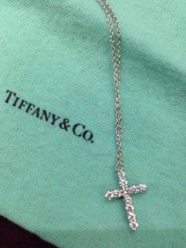 Tiffany and Co Platinum Diamond Cross Necklace.   When a boy asks you if you like Tiffany...UMM yes!!!