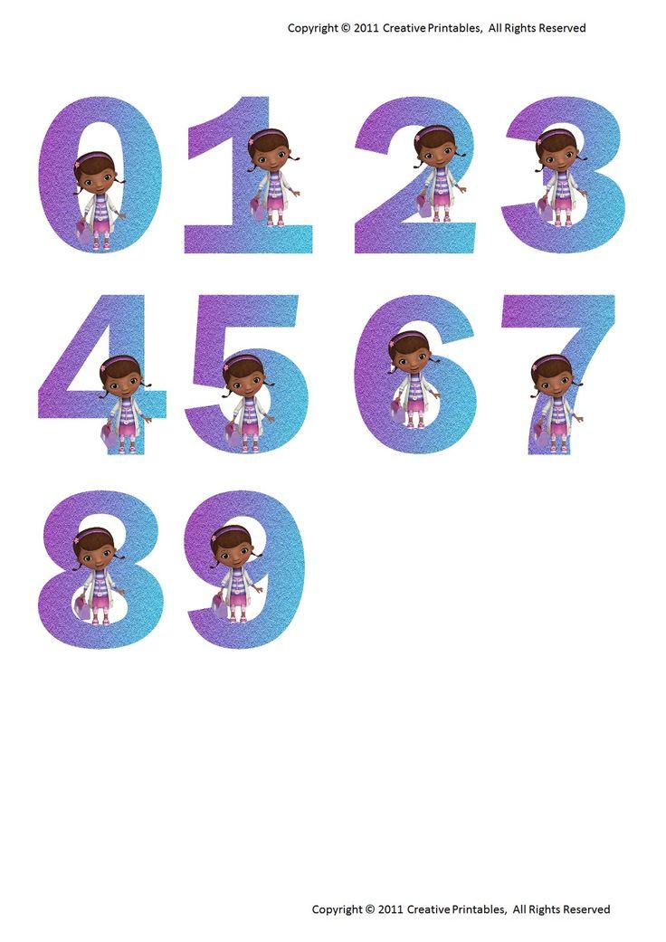 Doc Mcstuffins Numbers 0 9 Pdf Doc Mcstuffins Doc