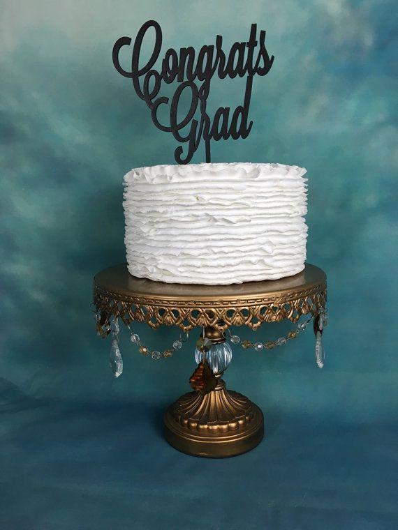 Congrats Grad Cake Topper, Graduation Cake Topper, High School Graduation Party, College Graduation Party
