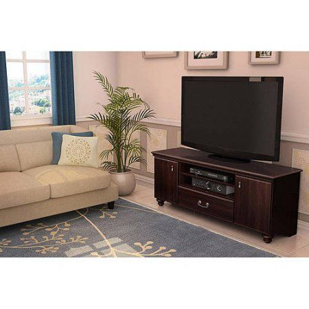 South Shore Noble TV Stand for TVs up to 65 inch, Multiple Finishes, Brown