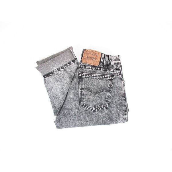Vintage Black Levis Jeans, Acid Wash Levis, Grey Stonewashed Jeans,... ($34) ❤ liked on Polyvore featuring men's fashion, men's clothing, men's jeans, acid wash, mens stonewash jeans, mens gray jeans, mens vintage jeans, mens jeans and mens high waisted jeans