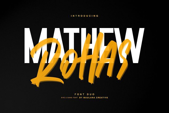 Mathew Rohas Brush Font Duo Brush Font Typography Quotes Lettering