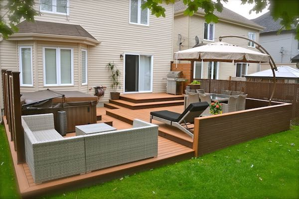 The idea of zones is of interest but one for BBQ, one for hot tub and one for table/chairs