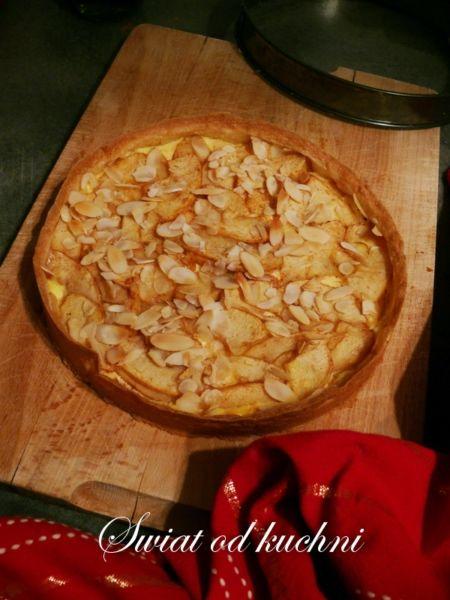 Tarta z serem i jabłkami