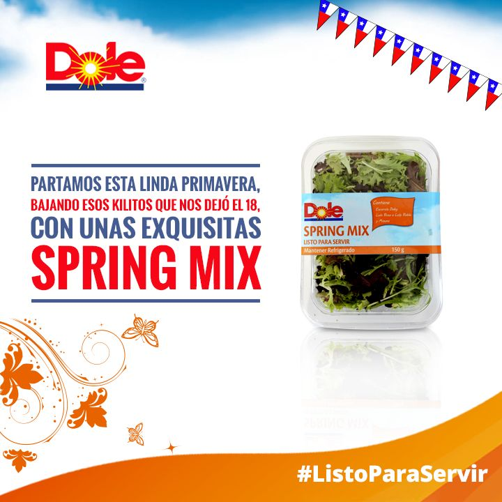 Dale con unas Spring Mix #DaleConDole