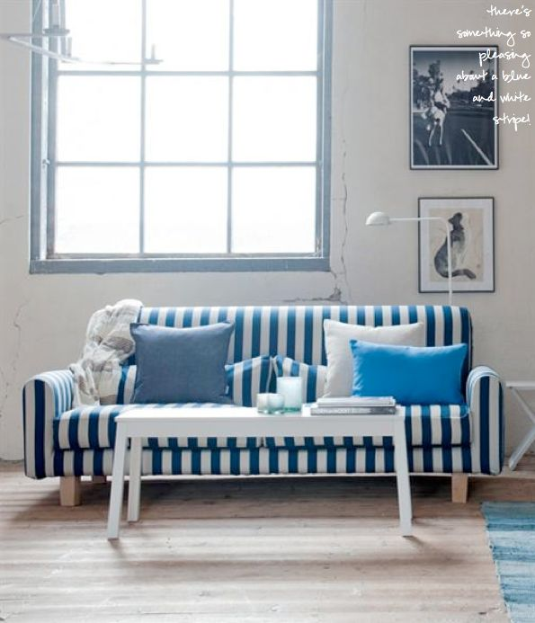 Nautical Stripe Sofa Cover For The Home Pinterest