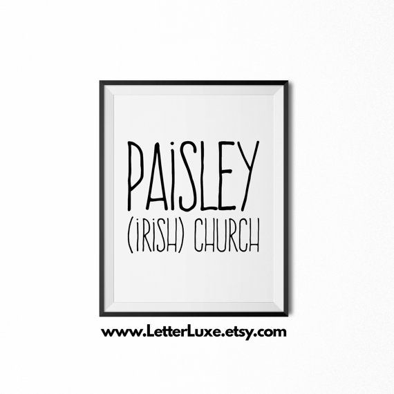Paisley Name Meaning Art  Printable Baby by LetterLuxePrintables