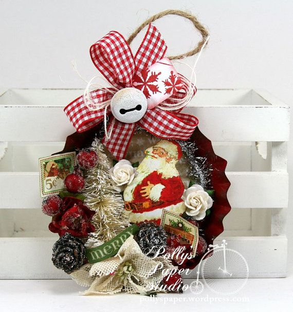 159 best tart tin crafts images on pinterest christmas for Decorating tins for christmas
