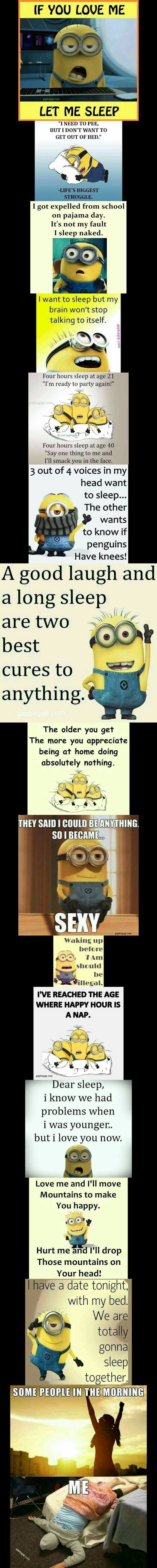 Top 15 Funny Quotes About Sleeps By The #Minions