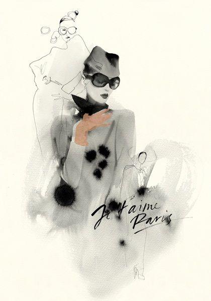 Cecilia Carlstedt fashion illustration