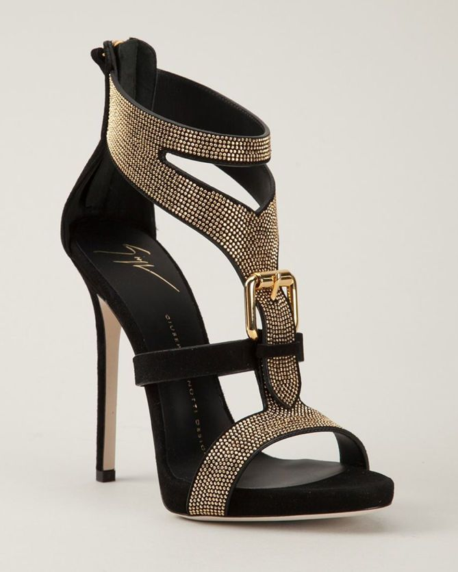 GIUSEPPE ZANOTTI DESIGN Studded Sandals | Buy ➜ http://shoespost.com/giuseppe-zanotti-design-studded-sandals-3/