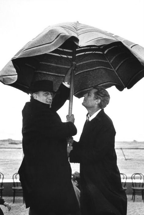 Federico Fellini and Marcello Mastroianni