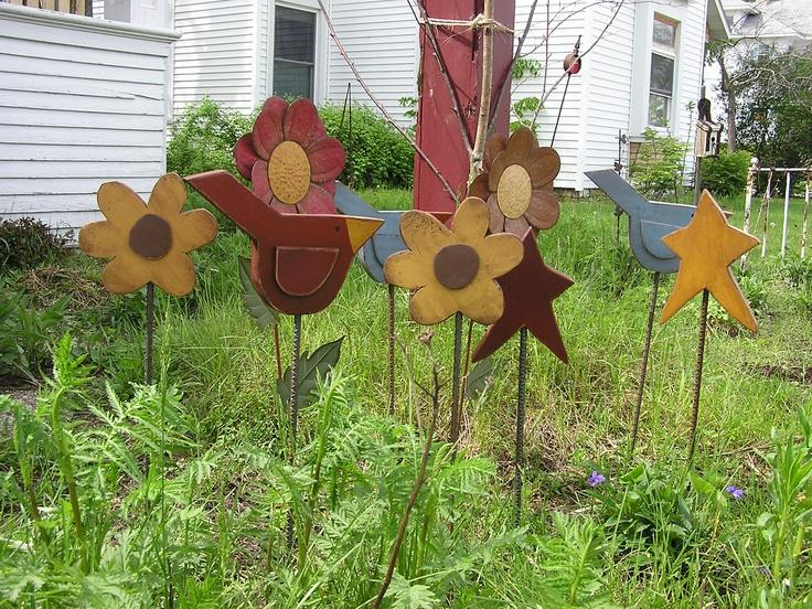 Garden Decor Birds Stars And Flowers