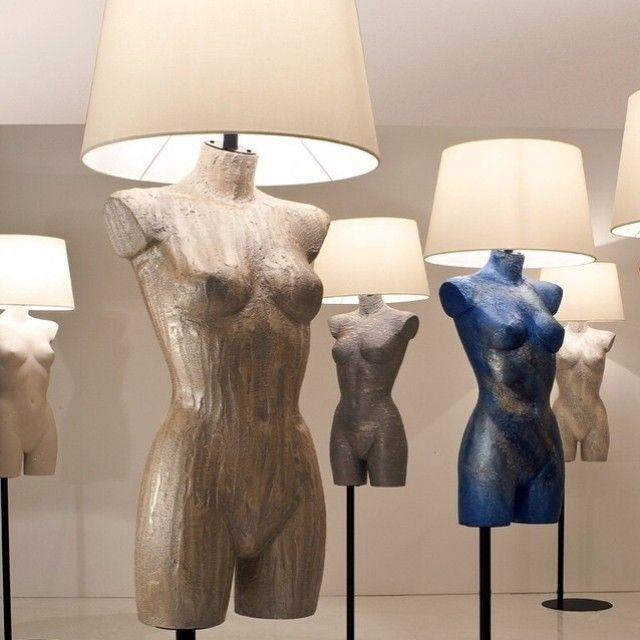 Manichini e lampade tutte decorate con Segui il tuo Istinto. Li abbiamo pensati per gli showroom, ma da soli riuscirebbero a dare luce ad ogni ambiente. #giorgiograesan #showroom #fashion #interiordesign #design #lovedesign #picoftheday