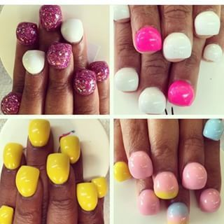 """Bubble"" nails have been popping up all over Instagram lately in all their curvy wonder. 