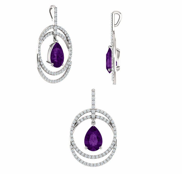 Amethyst & Diamond Pendant. Love!