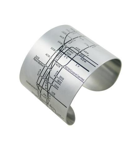 design hype: nyc cuff - #steel #jewelry #achromatic: Cuffs Bracelets, Metro Cuffs, Cuffs Black, Nyc Subway, Nyc Metro, Tasti Recipes, Jewelry, Subway Maps, Stainless Steel