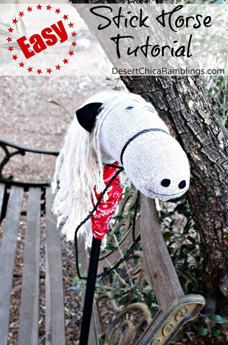 Does your little cowboy need a horse for the rodeo?? Check out this Easy Stick Horse Tutorial - made mostly with stuff from my #DollarTree