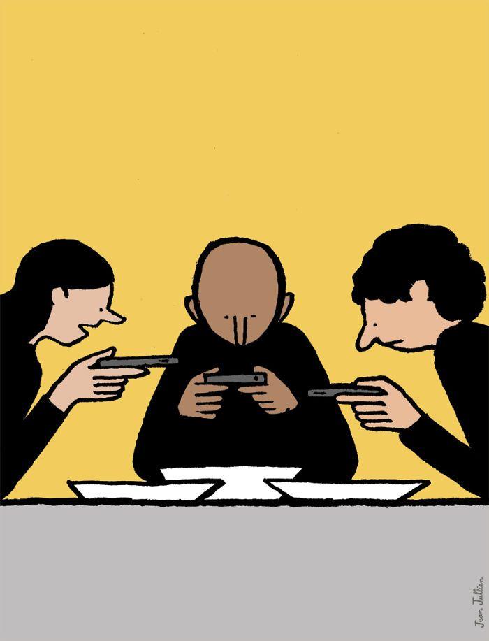comment laddiction à la technologie change nos vies par Jean Jullien  Dessein de dessin
