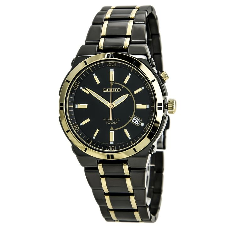Seiko Titanium Carbon Nitride Plated Kinetic Watch SKA366