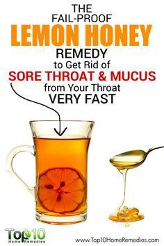 The Fail-Proof Lemon Honey Remedy to Get Rid of Sore Throat and Mucus from Your Throat Very Fast!