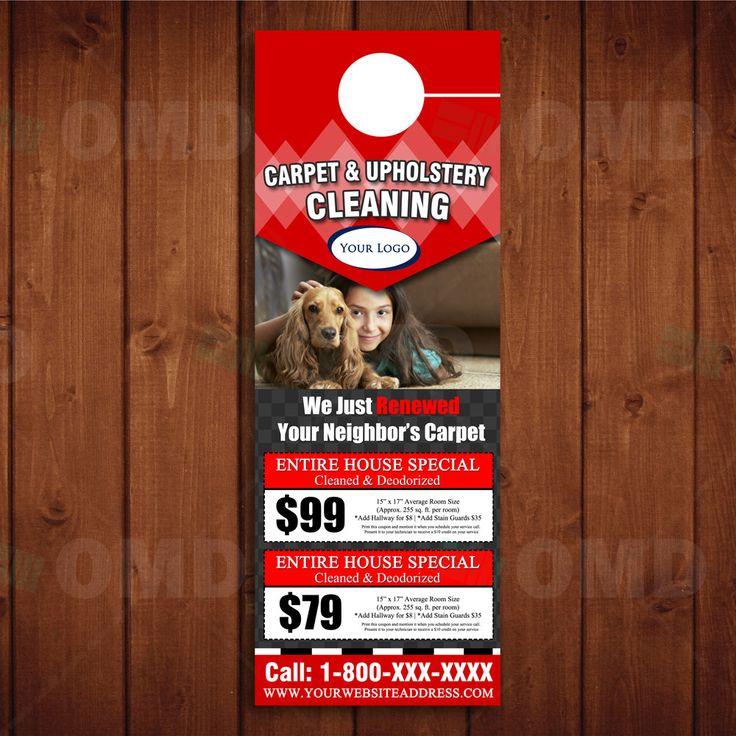 Instant Download Coupon Carpet Cleaning Door Hanger