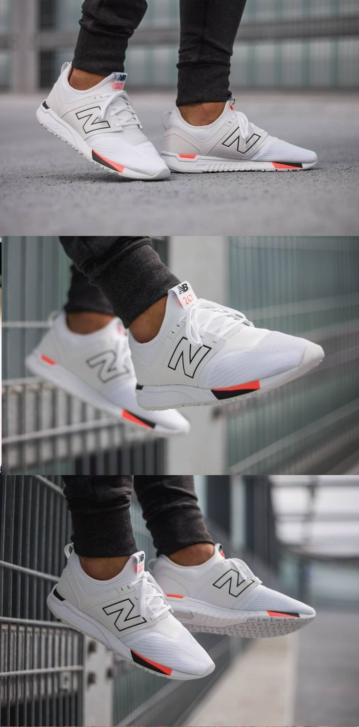 New Balance 247 - Classic White Black #casualsneakers ...