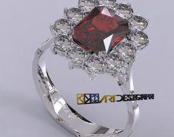 montatura anello classico contorno 3D Model