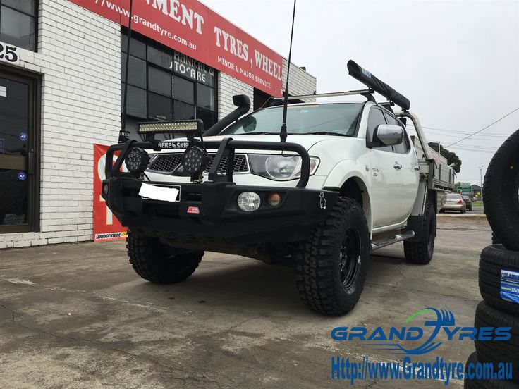Federal Tyres and dynamic rims fitted on Mitsubishi Triton #GrandTyres #4x4tyres #4wdtyres #Federaltyres #dynamicrims