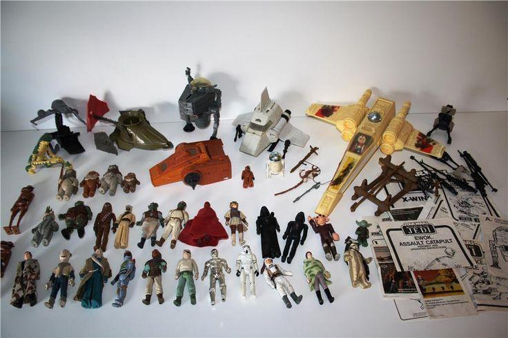 * STAR WARS Stor samling figurer + skepp, Lucas Film ltd *