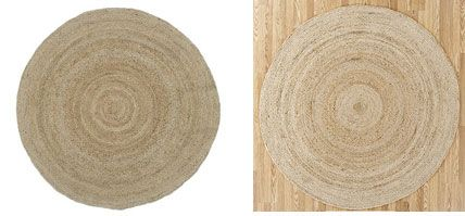 The Round Jute Rug from Pottery Barn adds texture underfoot at $149.  I can pick up the same look at World Market with the Natural Jute Circular Rug for $89.99.Pottery Barn