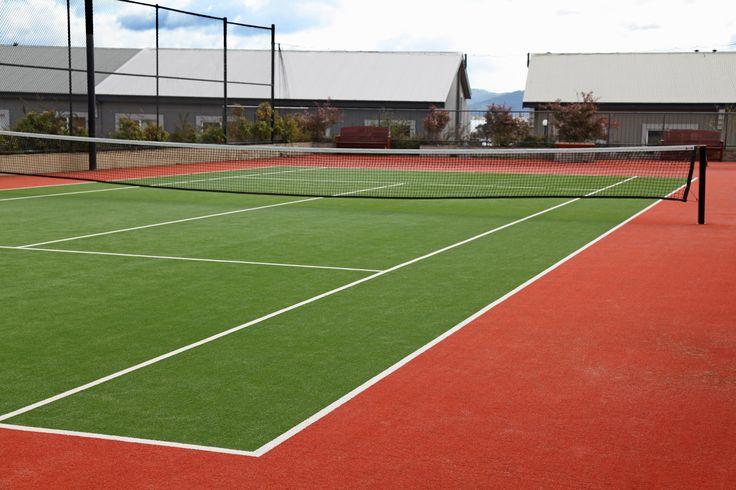 Enjoy a spot of tennis on Rydges Horizons tennis court.