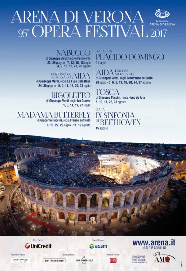 Calling all opera lovers that are visiting Lake Garda this year! The 95th Opera Festival at the iconic Arena di Verona, just an hour from Lake Garda, include it in you holiday itinerary! Read more about the Arena Opera, Verona's historic opera venue. Nabucco by Giuseppe Verdi Verdi's