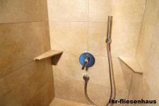 Edelstahl Eckablage für Dusche und Bad befliesbar für