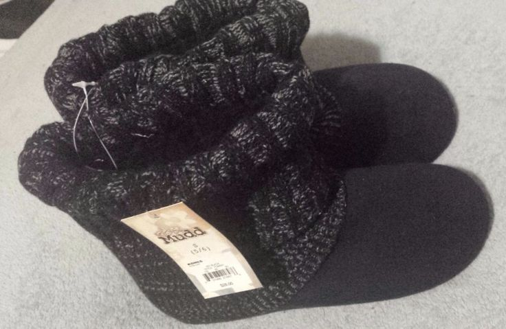 Navy & Black Jr's Mudd Sz Small (5/6) Slipper/Boots Shoes Fashion Deal Sale #Mudd #Boots