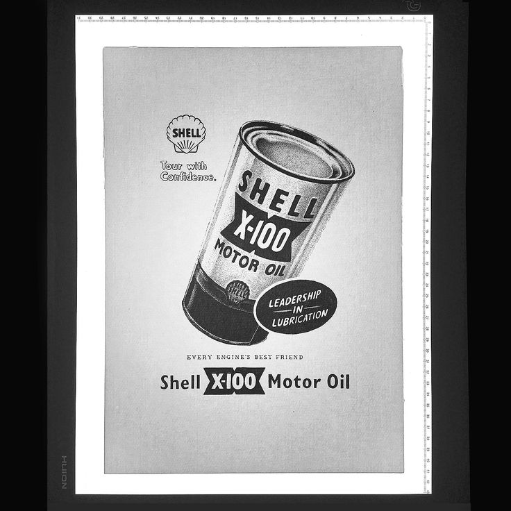 Vintage Shell Motor Oil Ad dotwork