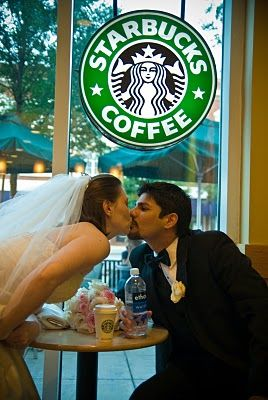 Free Starbucks coffee on your wedding day? Totally remembering this!