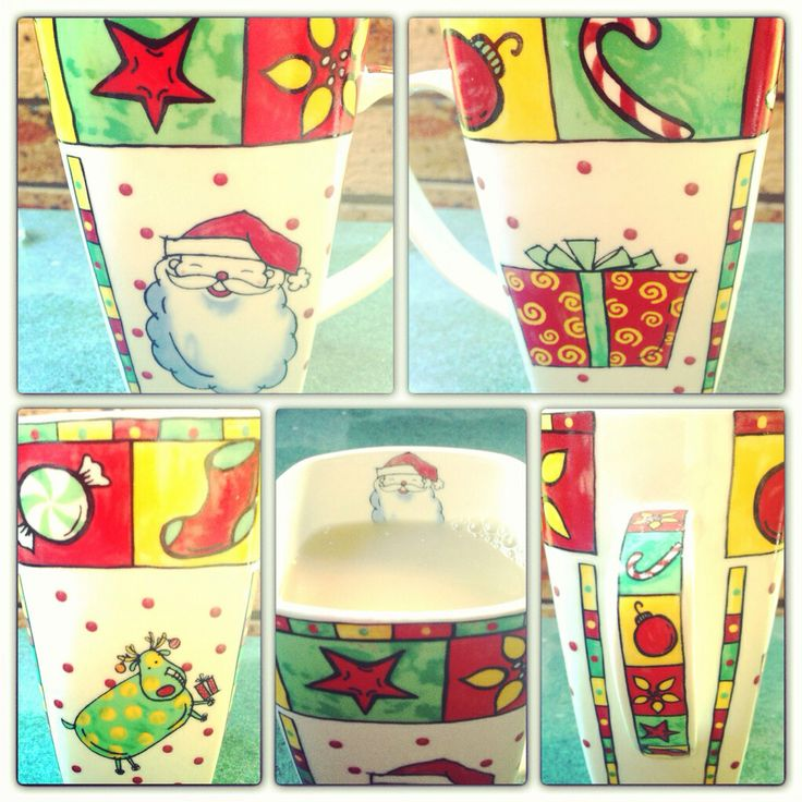Good morning! Some mugs are just fun! Merry Christmas.  This one makes me feel happy :-).  #goodmorning!