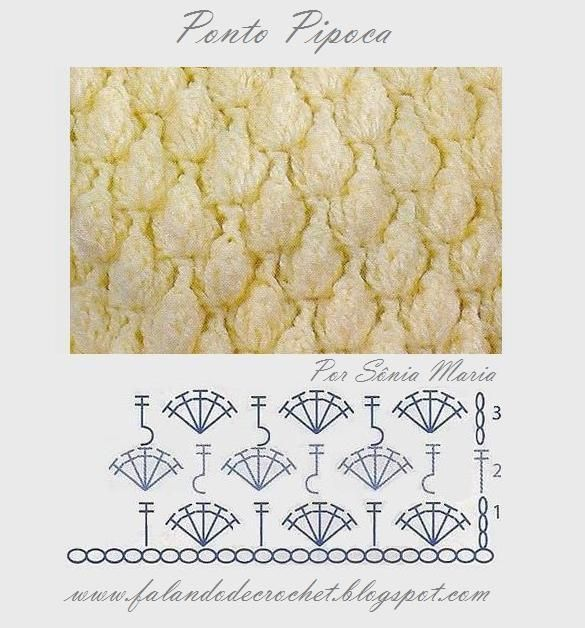 """FALANDO DE CROCHET"": Hook, Crochet Actually, Crochet Diagram, Crochet Stitches, Crochet Tecniqu, Ponto Avelã, Crochet Patterns, Crochet Charts"