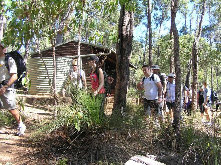 Arriving at the shelter - Group Activities on the Bibbulmun Track organised by the Bibbulmun Track Foundation