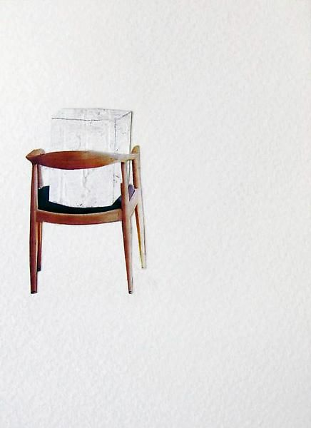 Rachel Whiteread  Chair Back, 2003  Collage, gouache and ink on watercolor paper  6 x 4 1/8 inches   (15.2 x 10.5 cm)