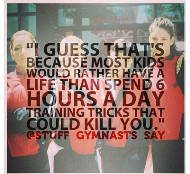 Gymnast truth.