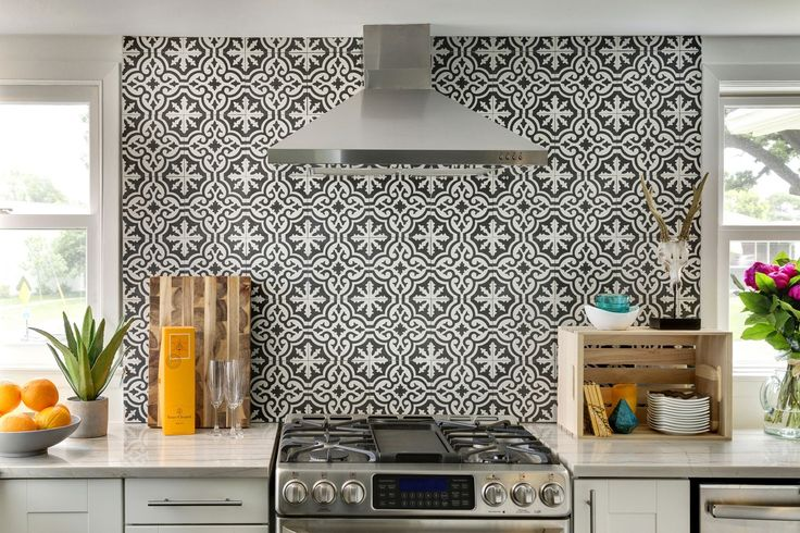 Tile as back splash Cement Tile Shop - Encaustic Cement Tile: Projects